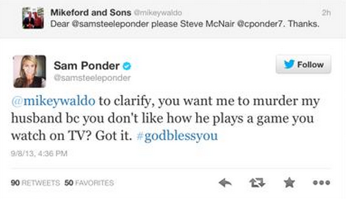 Sam Ponder attacked by Moron