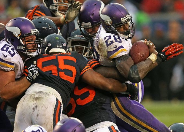 Adrian Peterson Against the Bears
