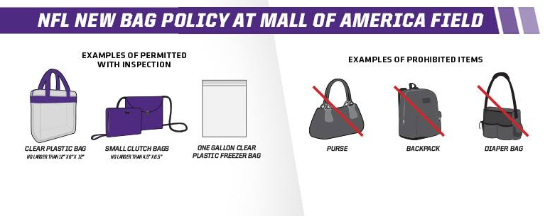 New NFL Bag Policy