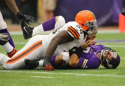 Ponder Sacked - Browns 2013