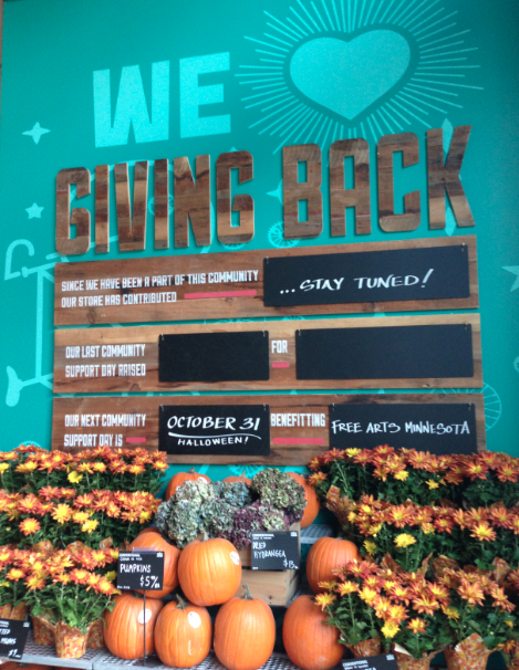 Whole Foods - North Loop - Giving Back