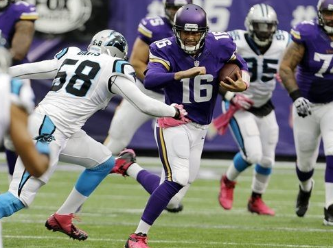 Matt Cassel Sacked - Panthers - 2013