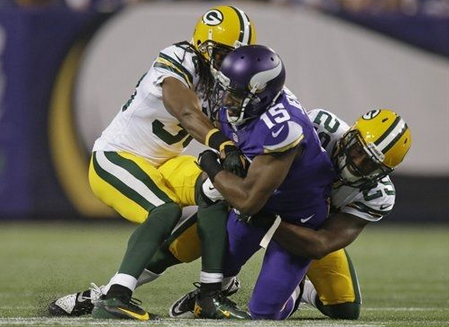 Jennings - Packers - Vikings  - 2013