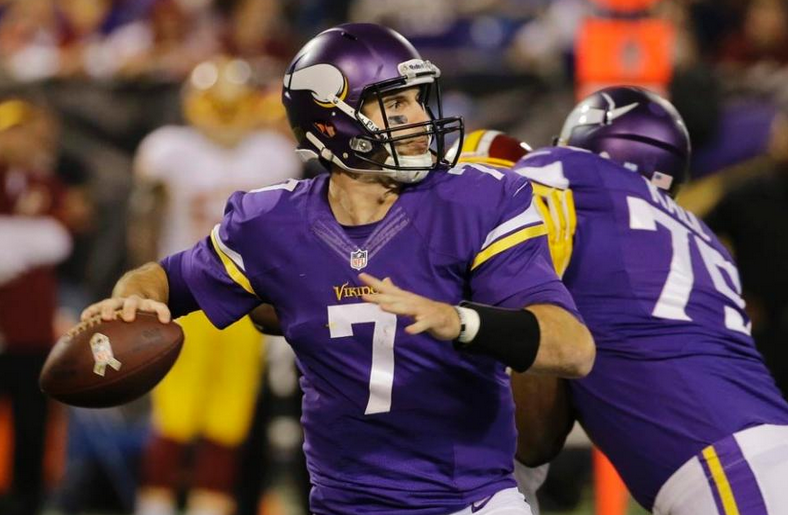 Christian Ponder - Vikings - Redskins - 2013