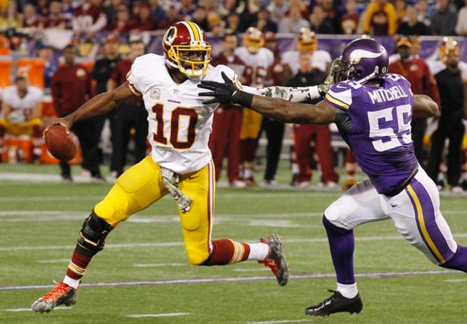 RG3 - Redskins - Stiff Arm - Vikings - 2013