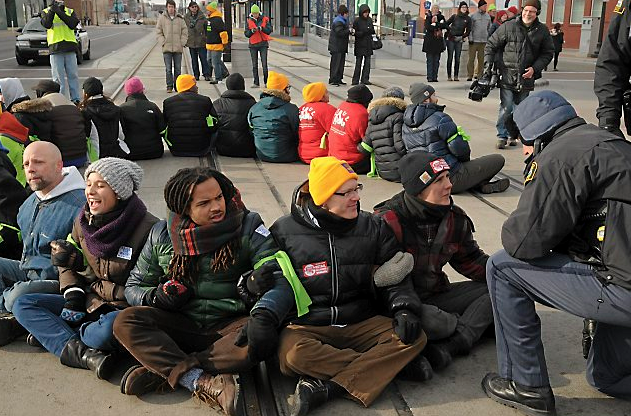 St Paul Protests - Wal Mart - Higher Wages - Arrested