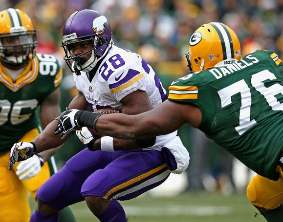 Packers - Vikings - 2013 - Tie - Adrian Peterson