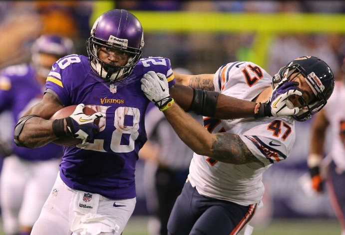 Adrian Peterson - Beastmode - Bears - Vikings - OT - 10000 yards - 2013