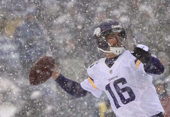 Matt Cassel - Vikings - Ravens - Epic Finish - 2013 - Snow