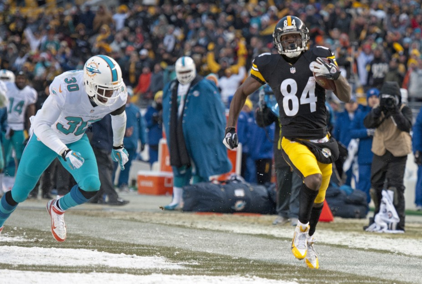Antonio Brown Steps Out - Steelers - Dolphins - 2013