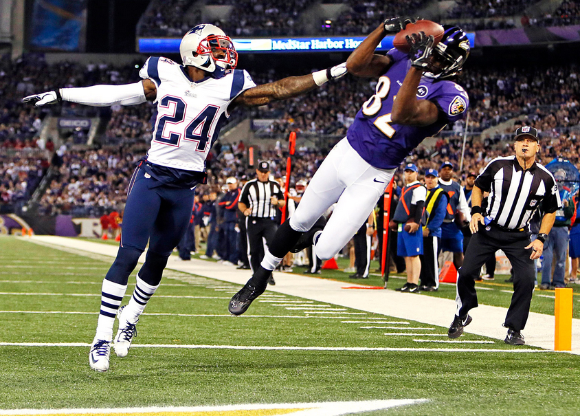 Torre Smith - Ravens - Patriots - 2013