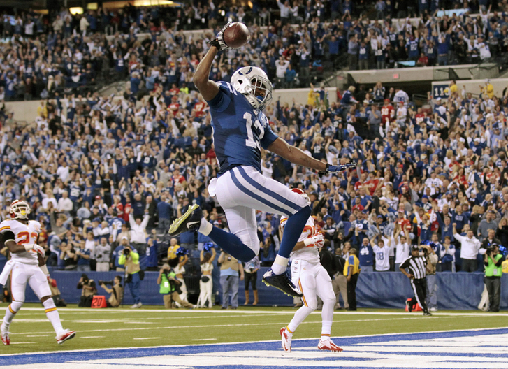 TY Hilton - Spike - Touchdown - Colts - Chiefs - Wild Card - 2014