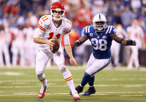 Alex Smith - Chiefs - Colts - Wild Card - 2014