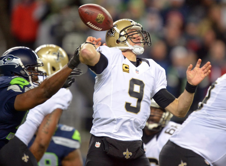 Drew Brees - Saints - Seahawks - 2014 - Divisional
