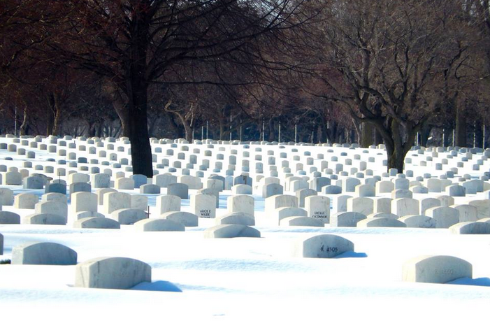 A Glimpse of the Twin Cities -- The Headstones at Fort Snelling National Cemetery - 2014