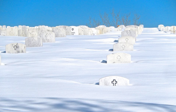 A Glimpse of the Twin Cities -- The Headstones at Fort Snelling National Cemetery