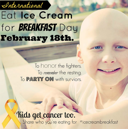 Eat Ice Cream For Breakfast Day - Flyer