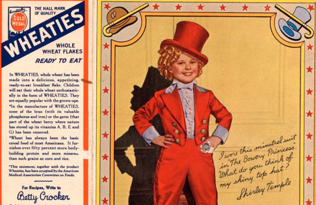 General Mills Says Goodbye to Shirley Temple - Wheaties Box - 2nd most