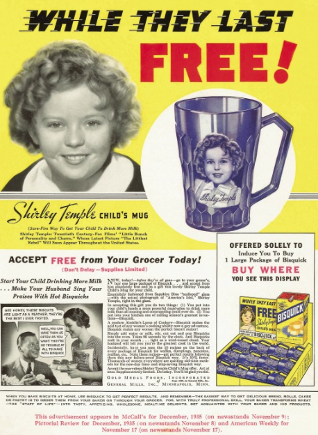 General Mills Says Goodbye to Shirley Temple - drink your milk
