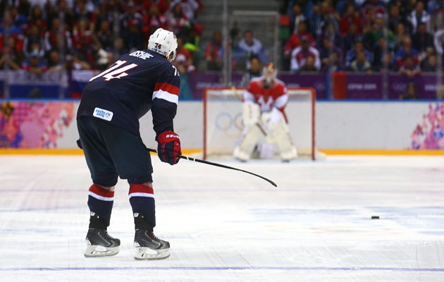 Oshie Thrills Sochi- Minnesota Native Scores Four Shootout Goals in U.S. Victory Over Russia