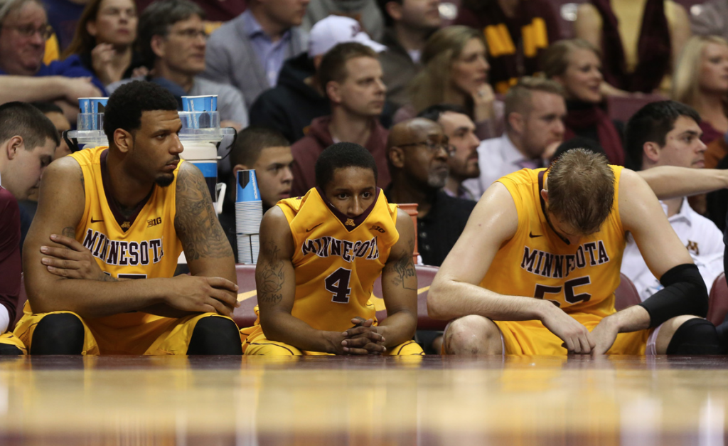 gophers troucned by Illinois - 2014 - NCAA basketball