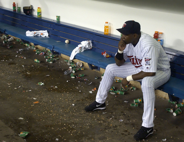 ortiz-twins-dugout -  Most Meaningless Sporting Events of the Last 25 Years