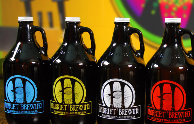 Harriet Brewing Growlers
