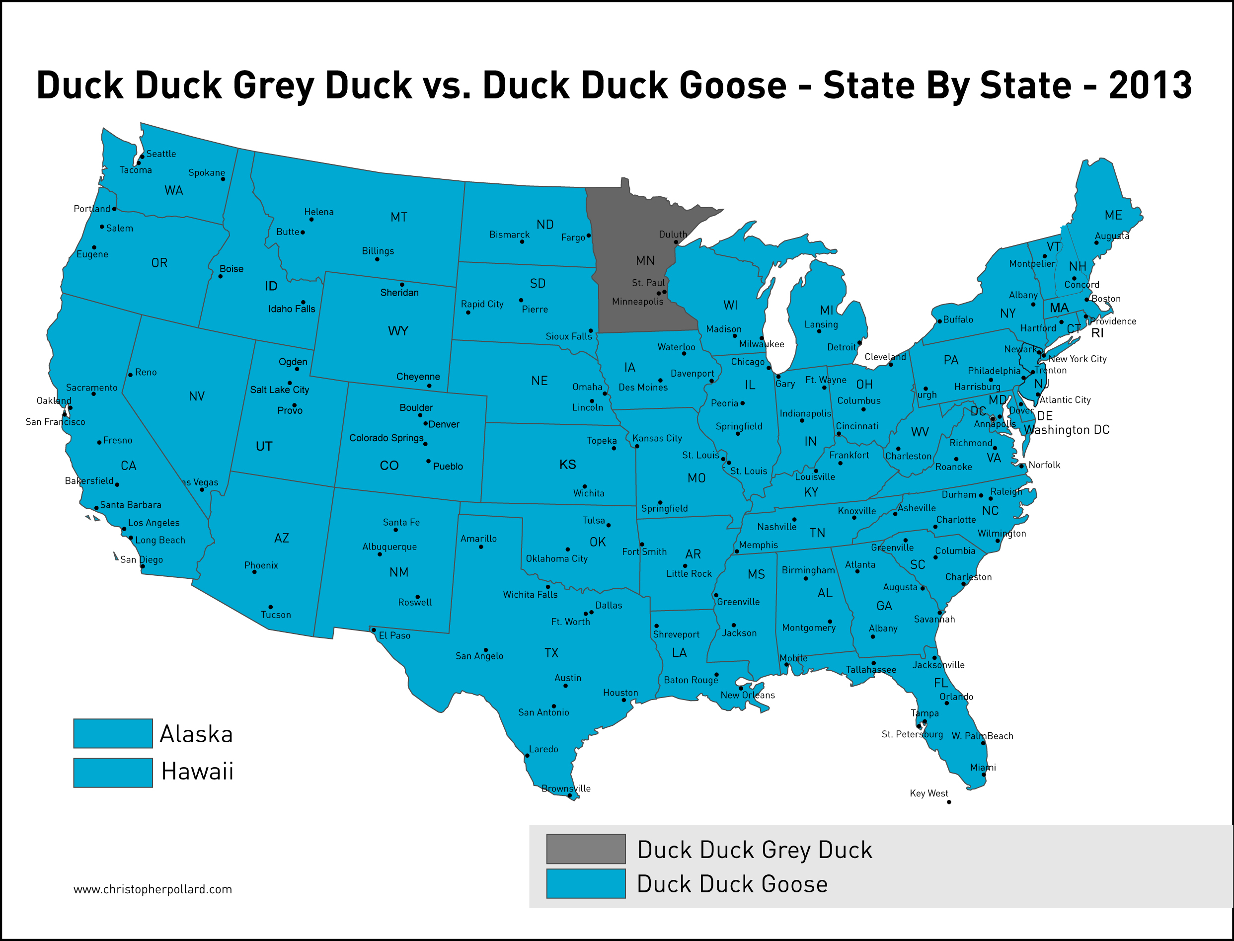 Pollard Gray Duck Map
