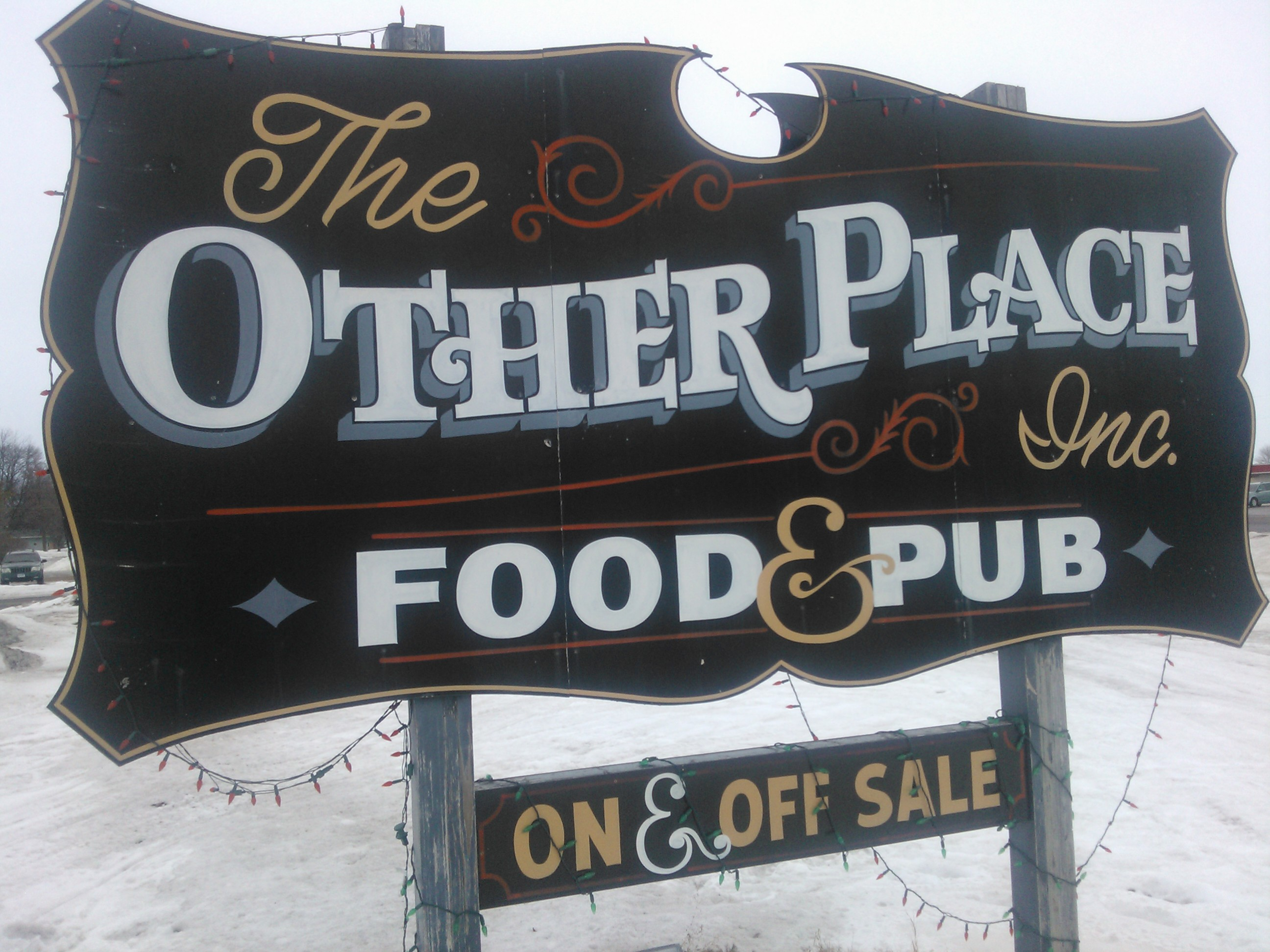 The Other Place Sign Hector, MN