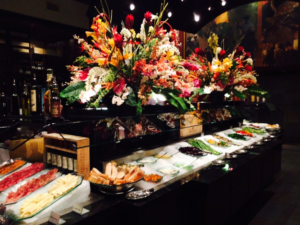 fogo de chao - restaurant review - salad bar