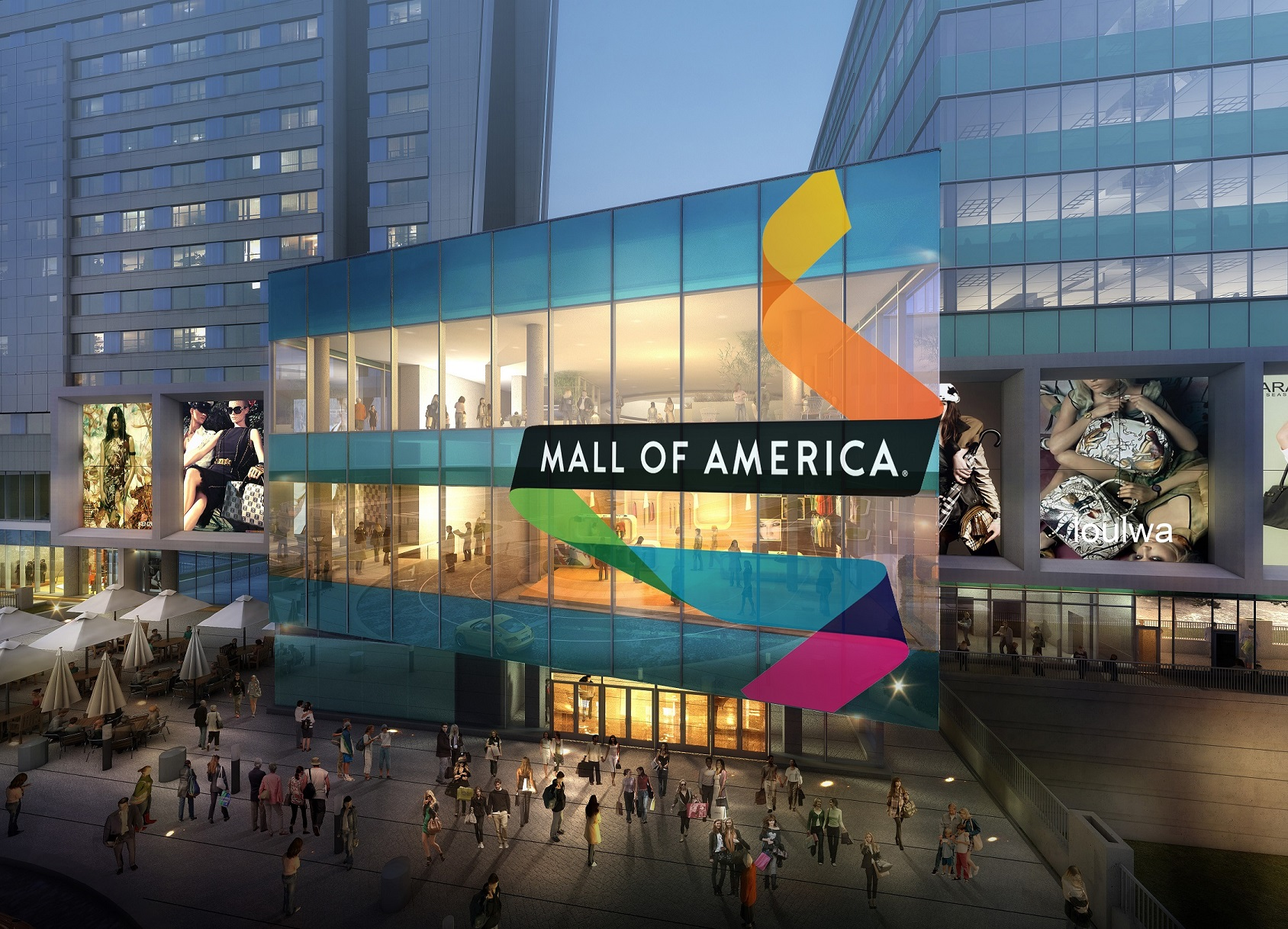 Mall America 2 The Project Includes Plans For Marriott Luxury Hotel An Underground Parking Area Which Will Include Valet Services And A Second Atrium