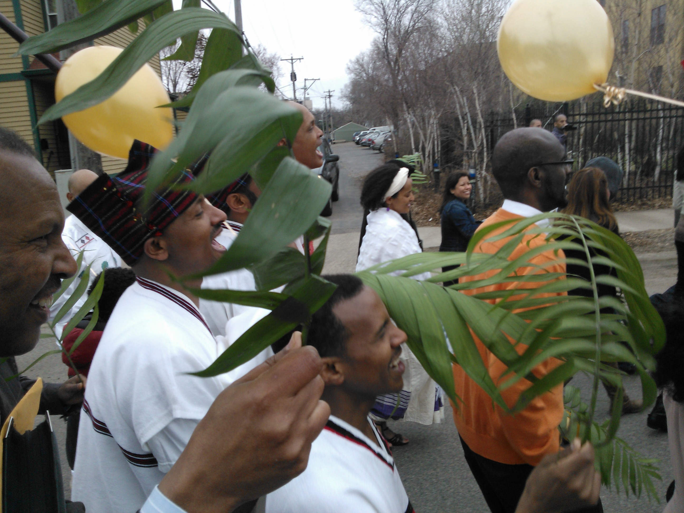 Ebenezer Oromo Church Members Sing Palm Sunday March St Paul's Lutheran Church in Minneapolis
