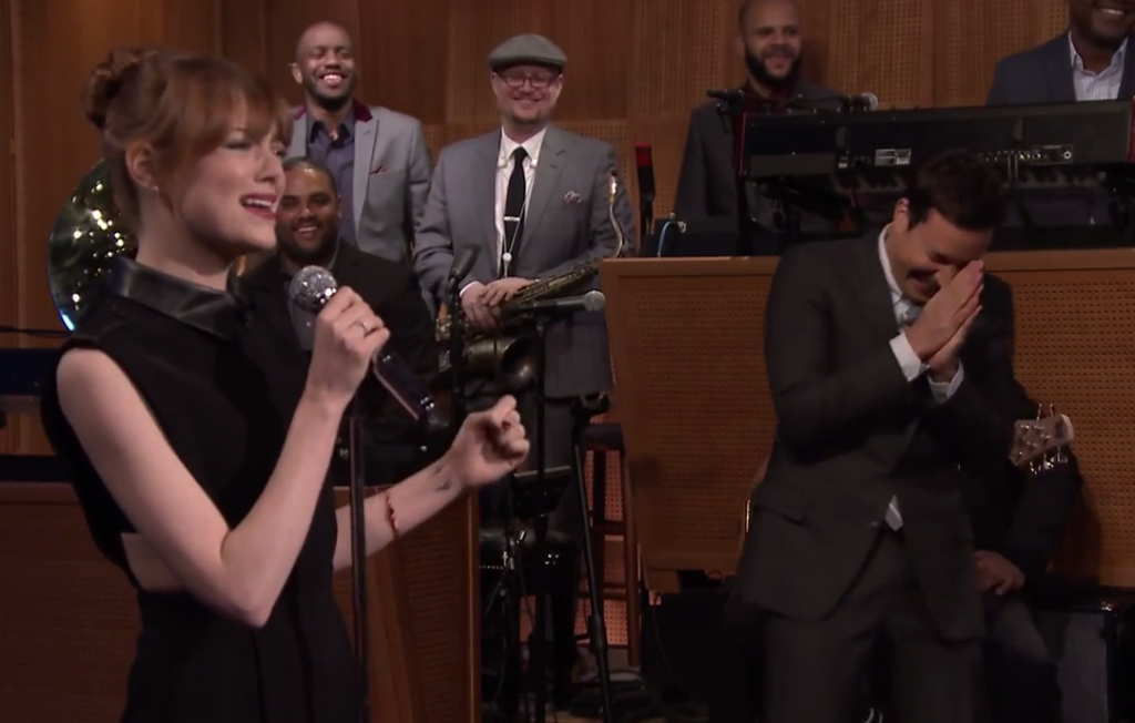Emma Stone - Jimmy Fallon - Lip Sync