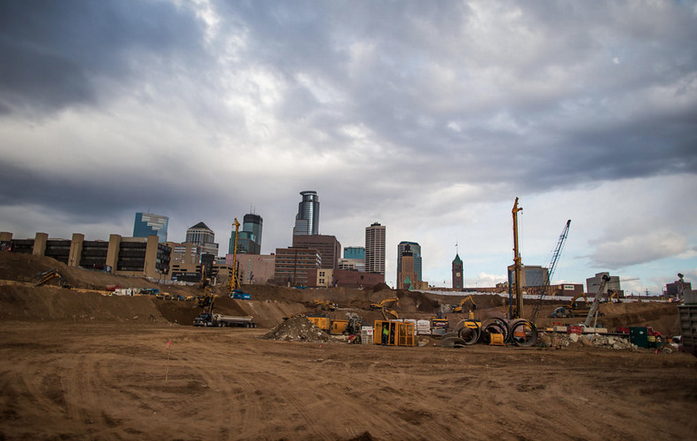 New Vikings Stadium Construction Well Underway - minneapolis
