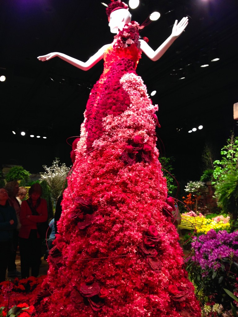 macy's - secret garden show - 2014 dress of flowers