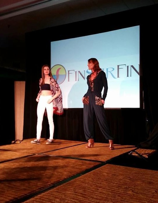 models Cameron and Christina in looks by FinSurFin