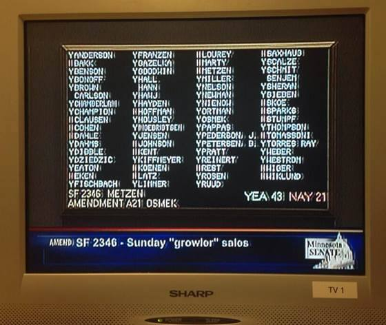 Growler Sales State Senate