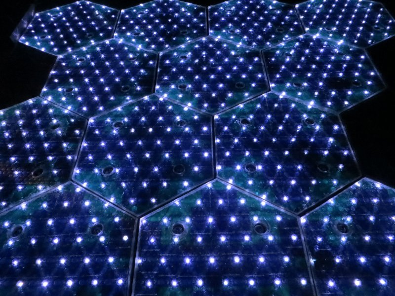 Lit Solar Roadways