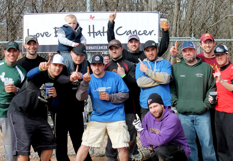 Love Beer Hate Cancer - softball