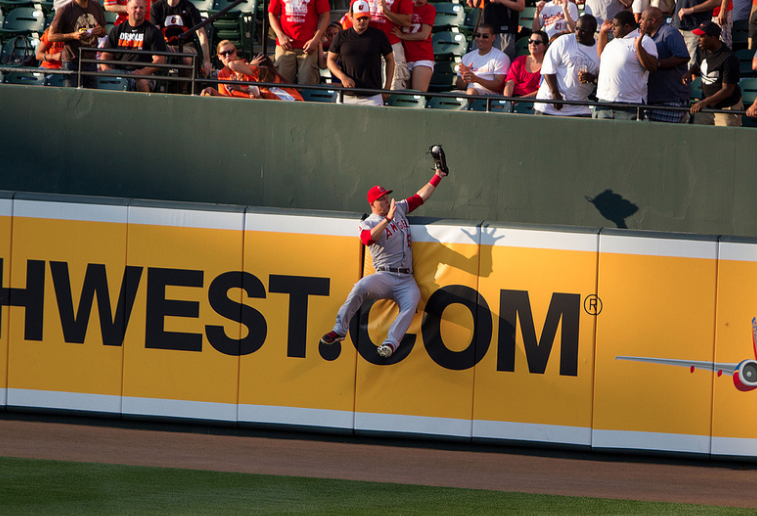 Mike Trout - outfield catch