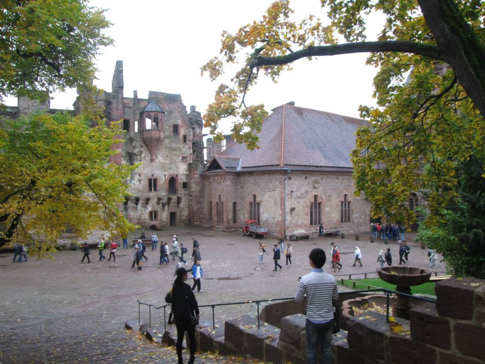 castle grounds in heidelburg