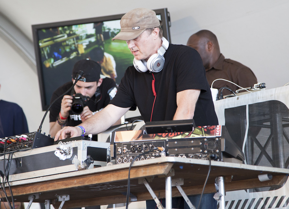 Minnesota's Freddy Fresh kept the music spinning in the Essential Elements Tent.