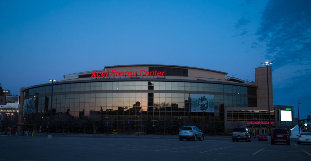 xcel energy center - projection system - 2014