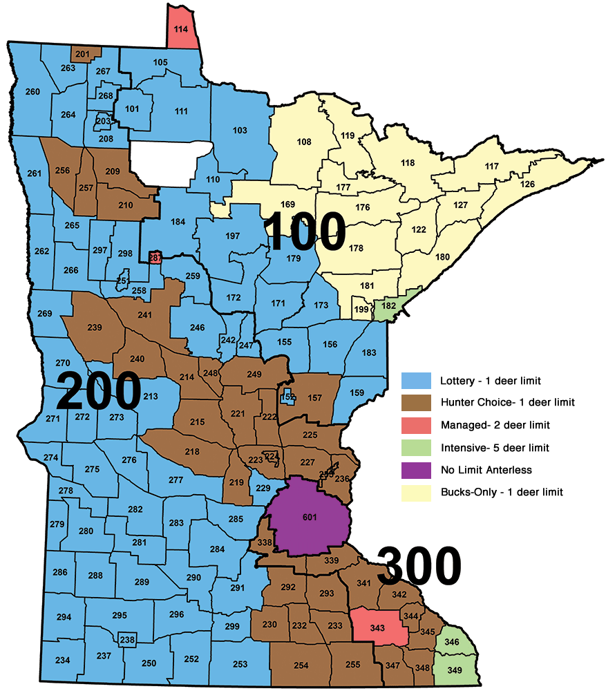 DNR Deer Hunting Zone Map 2014