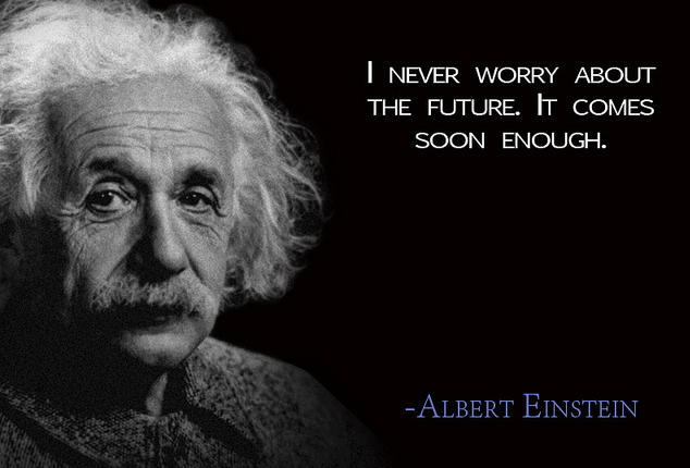 einstein quote - future