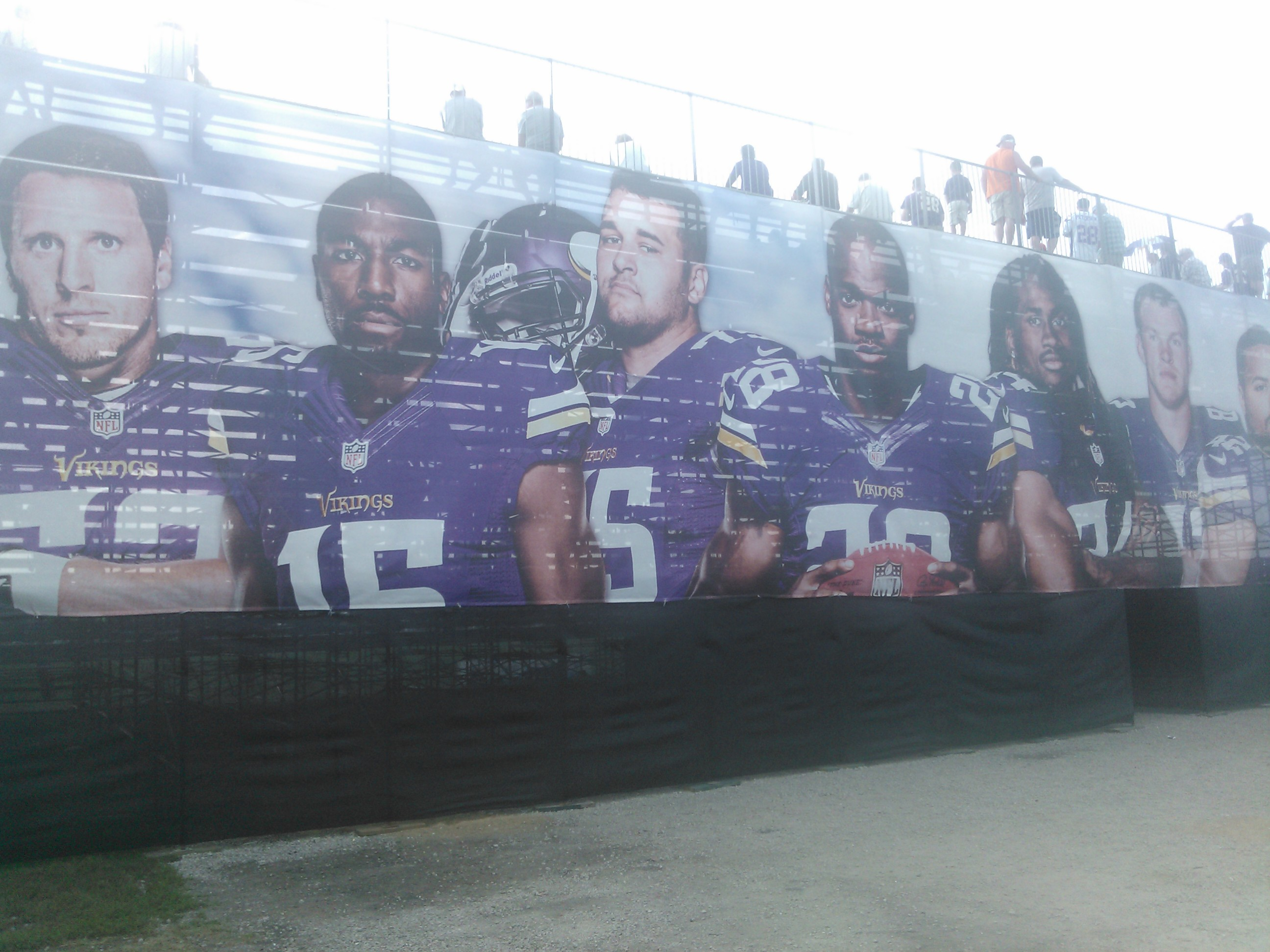 Big Banner at Vikings Training Camp (Erik Bergs)