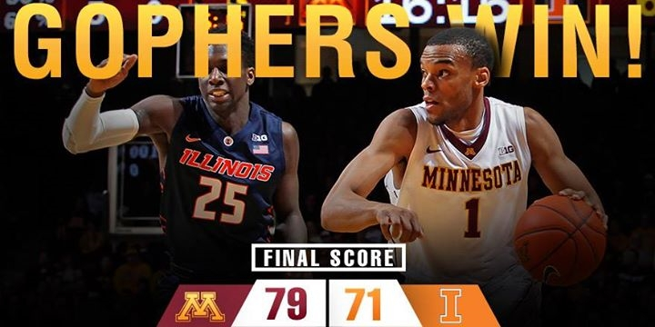 Gophers beat Illini