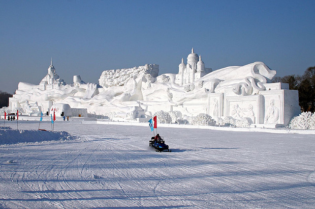 Harbin Largest Snow Sculpture in the World (Emma Gawen)