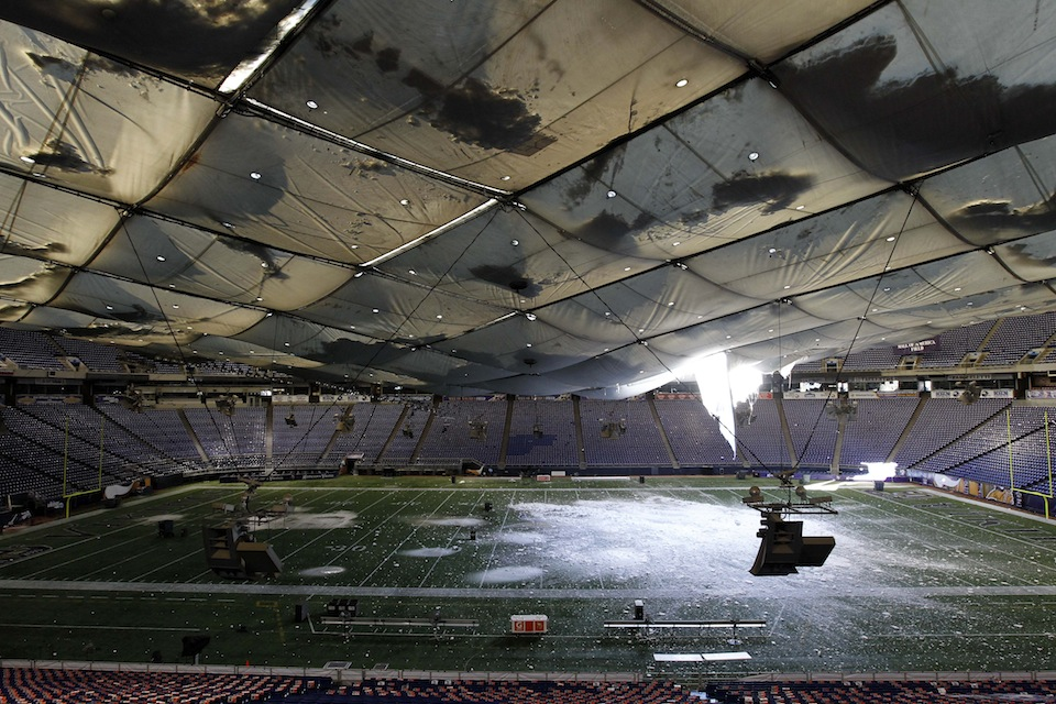 APTOPIX Winter Storm Metrodome Collapse