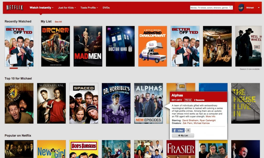 Netflix screenshot from google